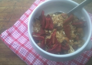 breakfast dehydrated strawberries